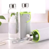 Glass Cup Simple Design Portable Bottle [6283319238]
