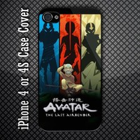 Avatar The Last Airbender Aang 4 Element Custom iPhone 4 or iPhone 4S Case