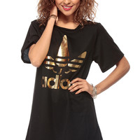 Black Adios Over Sized Graphic Shirt
