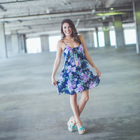 Pastels and Floral Sundress in Purple