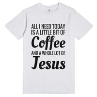 A Little Bit Of Coffee And A Whole Lot Of Jesus T-shirt (blk