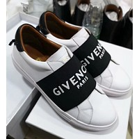 GIVENCHY Popular Women Men Casual Leather Sport Shoes Sneakers White/Black