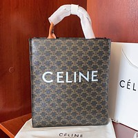 Celine New fashion letter pattern print leather shoulder bag crossbody bag handbag