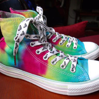 Upcycled Tie Dyed Converse Tennis Shoes- Womens 9- Mens 7