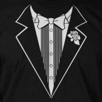 Tuxedo Wedding Marriage Screen Printed T-Shirt Tee Shirt T Shirt Mens Ladies Womens Funny