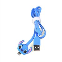 LIKESEA 3D Blue Stitch LED Light Data Sync Charger 8 Pin USB Cable for Apple iPhone 5, 5S, 5C, SE, 6, 6S, 6 Plus, 6s Plus ,7G,7 Plus / iPad Air2, pro, mini 2/ 3/ 4, iPad 4/ 5/ 6