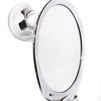 Fogless Shower Mirror with Razor Hook Fog Free Shaving, Powerfull Locking Suction Cup, Perfect for Shaving in the Shower! (Chrome)