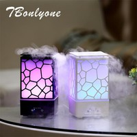 TBonlyone 200ML Water Cube Ultrasonice Diffuser Aroma Lamp Mist Maker Electric Aroma Air Humidifier Essential Oil Diffuser