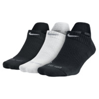 Nike Dri-FIT Cushion No-Show Tab Training Socks (3 Pair) Size Medium (Black)