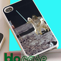 Sloth Llama Lasers On Moon  For Iphone 4/4s, iPhone 5/5s, iPhone 5C, iphone 6, and iPhone 6 Plus Case