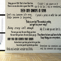 Dr Seuss Inspired Quotes for Stairs, Windows or Wall Vinyl Decal