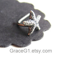 starfish cartilage earrings cartilage stud earrings, tragus earrings, ONE single stud