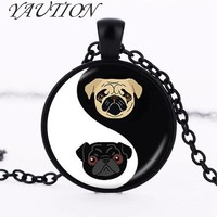 Yin Yang Pug Necklace