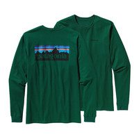 Patagonia Men's Long Sleeve P-6 Logo T-Shirt- Hunter Green