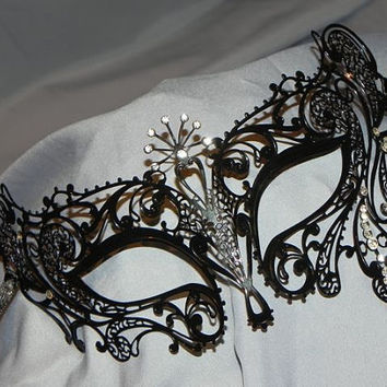 Sunburst Metallic Filigree Masquerade Mask