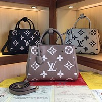LV Louis Vuitton M44056 Women's Tote Bag Handbag Shopping Leather Tote Crossbody Satchel 33*23*15cm
