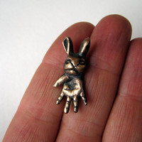 The thing tiny bunny monster ugly cute pendant by AnnaSiivonen