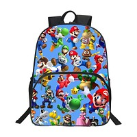 New Style Hot Oxford 16 Inches Printing Cool Hero Kids School Bags for Teenager Backpack Cartoon Bookbag Children Schoolbag