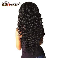 "Gossip Deep Wave Brazilian Hair Weave Bundles 100% Human Hair Bundles Natural Color 10""-28"" Double Weft Hair Extension Non Remy"