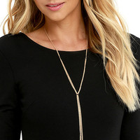 Believe It or Knot Gold Necklace