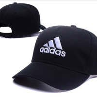 Black Adidas Embroidered Baseball Cap Outdoor Hat