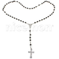 Jesus Necklace Rosary Cross Our Lord Savior Jesus Christ Necklace Rosery ROSARY