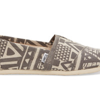 TOMS Grey Tribal Men's Classics Grey