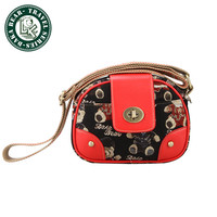 New Classic Vintage Casual Black and Red Shoulder Camera Bag for Digital Cameras DSRL