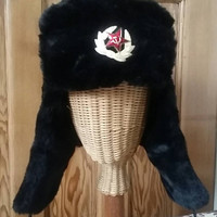 Black trapper hat russian Cossak hats mens accessories winter fashion caps Dolly Topsy Etsy UK