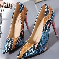Fall new style pointed shallow mouth stiletto high heels fashion sexy women's shoes