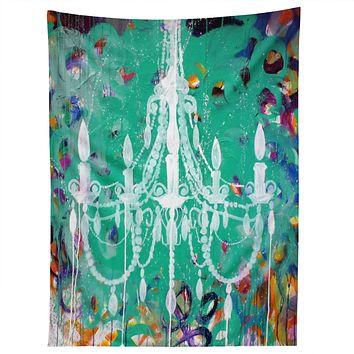Kent Youngstrom Emerald Chandelier Tapestry