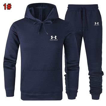 Under Armour Popular Women Men Casual Hoodie Top Sweater Pants Trousers Set Two-Piece 1#