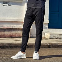 long trousers pants men black solid sweatpants for men top quality clothing males fashion Causal clothes