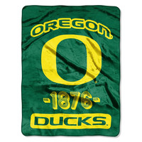 Oregon Ducks NCAA Micro Raschel Blanket (Varsity Series) (48x60)