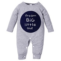 Autumn Winter Baby Clothes Toddler Boys Girls Rompers One Piece Letter Printed Long Sleeve Jumpsuit Kids Baby Outfits Clothing