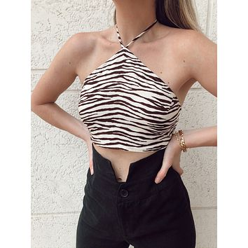 TIGERS EYE CROP TOP