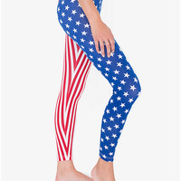 US Flag Print Cotton Spandex Jersey Legging | American Apparel
