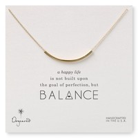 Dogeared Balance Tube Necklace, 18"