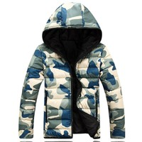 Winter Men Jacket 2018 Brand Casual Warmth Camouflage Mens Jackets And Coats Thick Parka Men Outwear XXXL