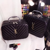 YSL Yves Saint Laurent 2018 new cosmetic bag storage bag wash bag F0717-1 black