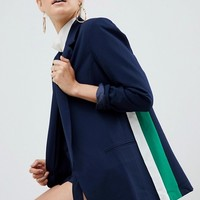 Parallel Lines oversized blazer with side stripe two-piece at asos.com