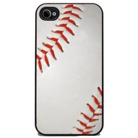 Baseball - iPhone 4 or 4s Cover, Cell Phone Case - Black