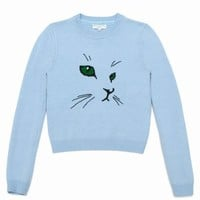 OPENING CEREMONY MERINO CAT EMBROIDERED SWEATER - WOMEN - TOPS - OPENING CEREMONY