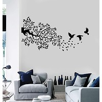 Vinyl Wall Decal Branch Leaves Tree Birds Room Decor Stickers Unique Gift (ig4069)