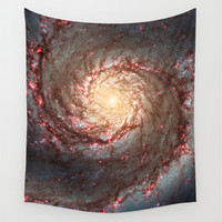 Wall Tapestry; Space Tapestry; Wall Hanging; Whirlpool Galaxy Outer Space Stars; Astronomy Large Photo Wall Art; Modern Tapestry; Home Decor