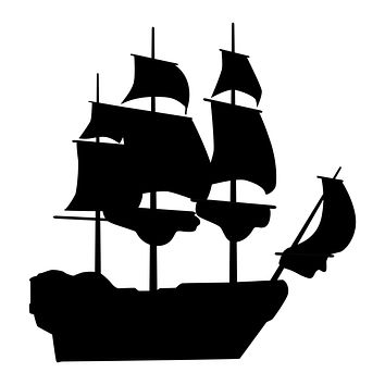 Black Ship Waterproof Temporary Tattoos Lasts 3 to 4 days Choose Small, Medium or Large Sizes
