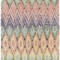 Luna Shag Area Rug Multi-Color