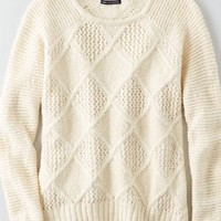 AEO Cable Knit Zip Sweater , Grapefruit | American Eagle Outfitters