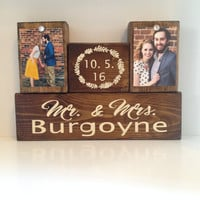 Wood stain sign custom wedding gift for couple wall decor art for home anniversary gift bridal shower gift rustic stain sign last name date