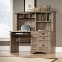 Harbor View Computer Desk with Hutch & 3 Storage Drawers